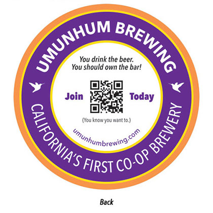 Umunhum Brewing Coaster Back