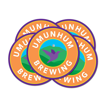 Umunhum Brewing Coasters